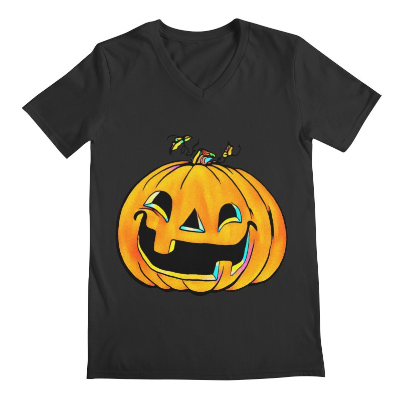 Party Pumpkin  Men's V-Neck by Jason Henricks' Artist Shop