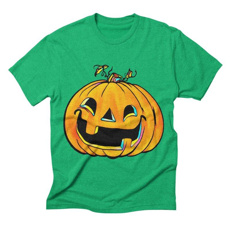 Party Pumpkin  Men's Triblend T-shirt by Jason Henricks' Artist Shop