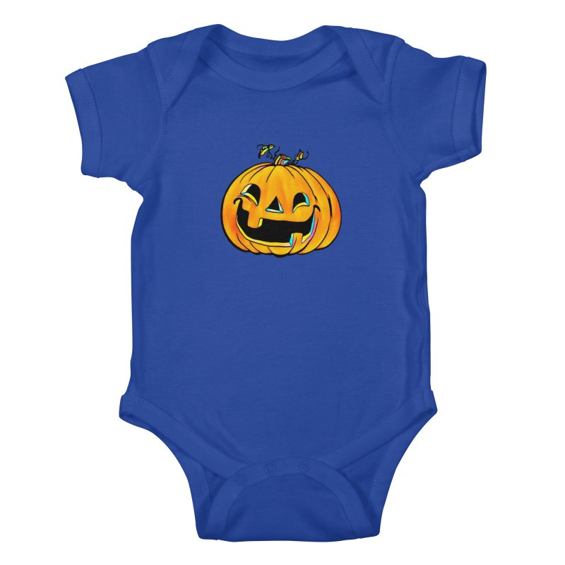 Party Pumpkin  Kids Baby Bodysuit by Jason Henricks' Artist Shop