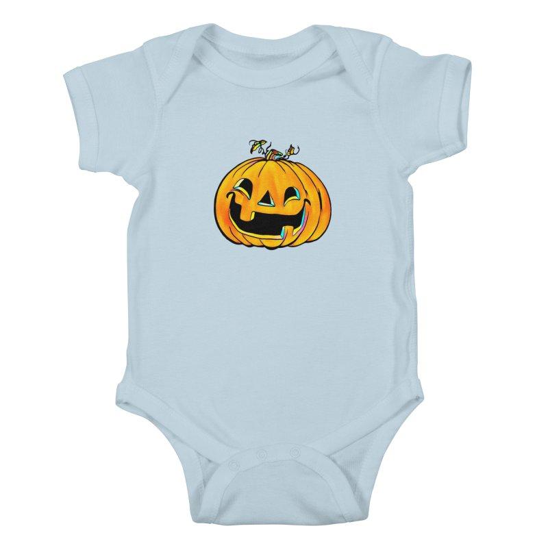 Party Pumpkin Kids Baby Bodysuit by Jason Henricks' Artist Shop