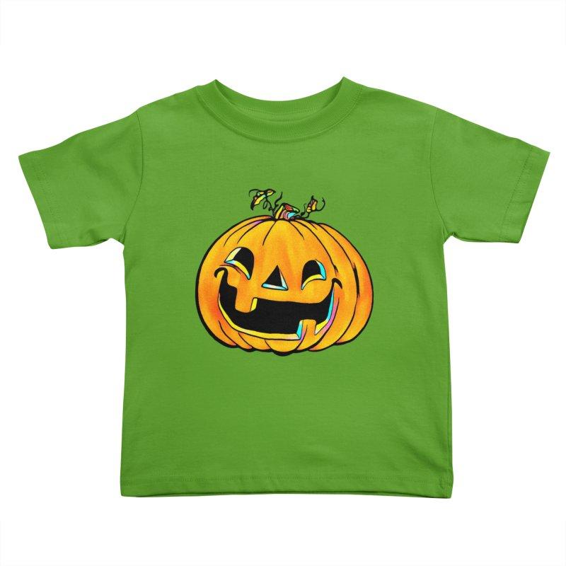 Party Pumpkin Kids Toddler T-Shirt by Jason Henricks' Artist Shop