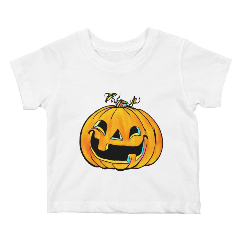 Party Pumpkin  Kids Baby T-Shirt by Jason Henricks' Artist Shop