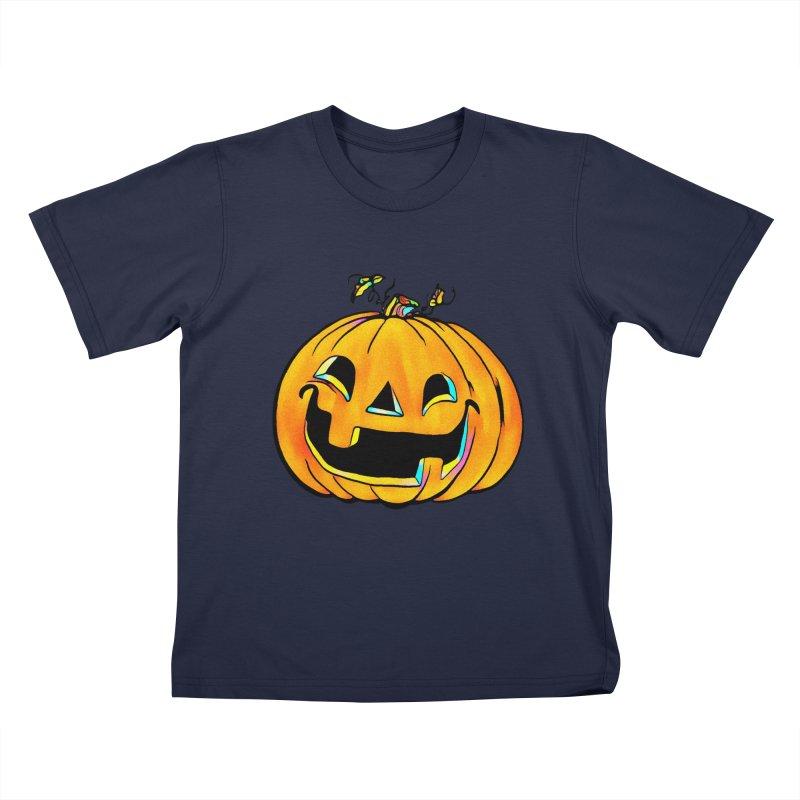 Party Pumpkin Kids T-Shirt by Jason Henricks' Artist Shop
