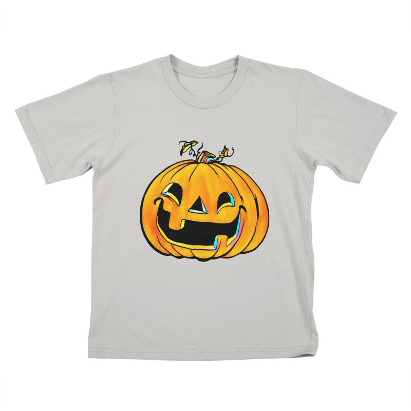 Party Pumpkin  Kids T-shirt by Jason Henricks' Artist Shop