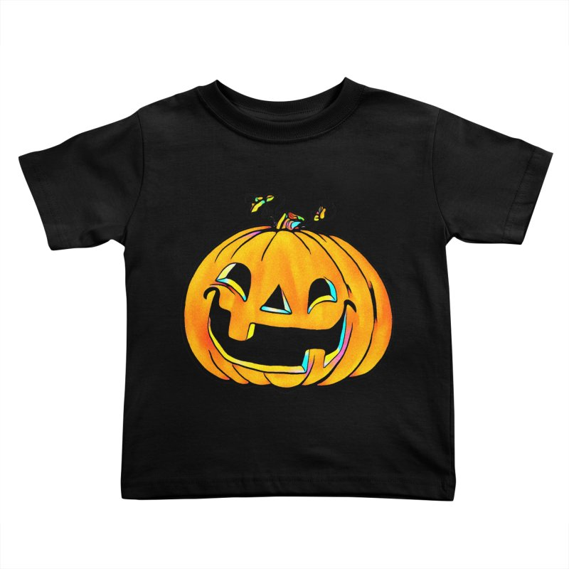 Party Pumpkin  Kids Toddler T-Shirt by Jason Henricks' Artist Shop