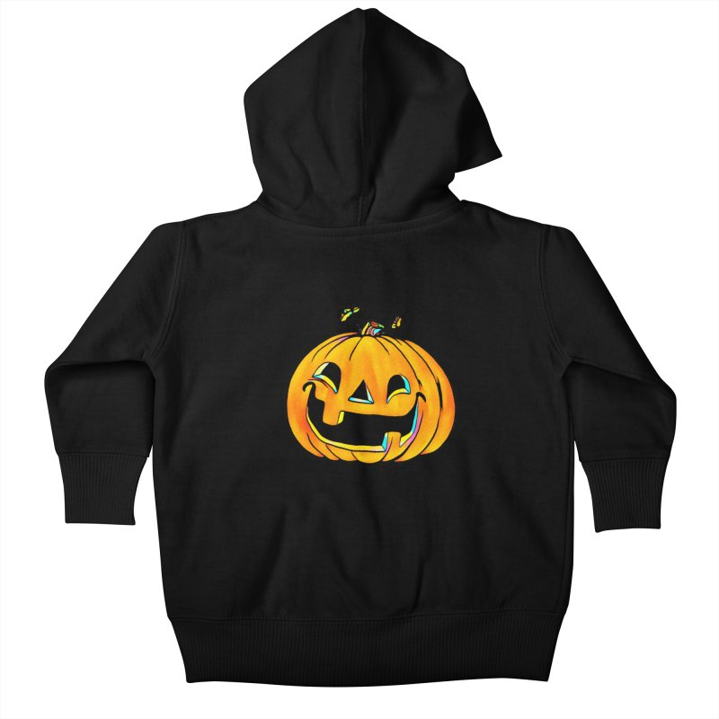Party Pumpkin Kids Baby Zip-Up Hoody by Jason Henricks' Artist Shop
