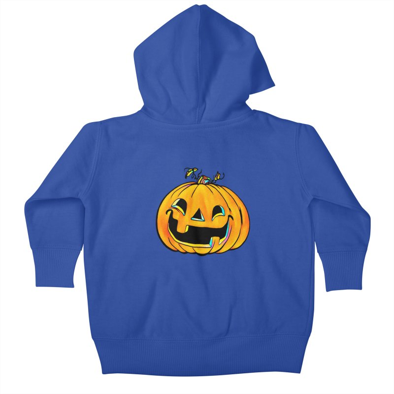 Party Pumpkin  Kids Baby Zip-Up Hoody by Jason Henricks' Artist Shop