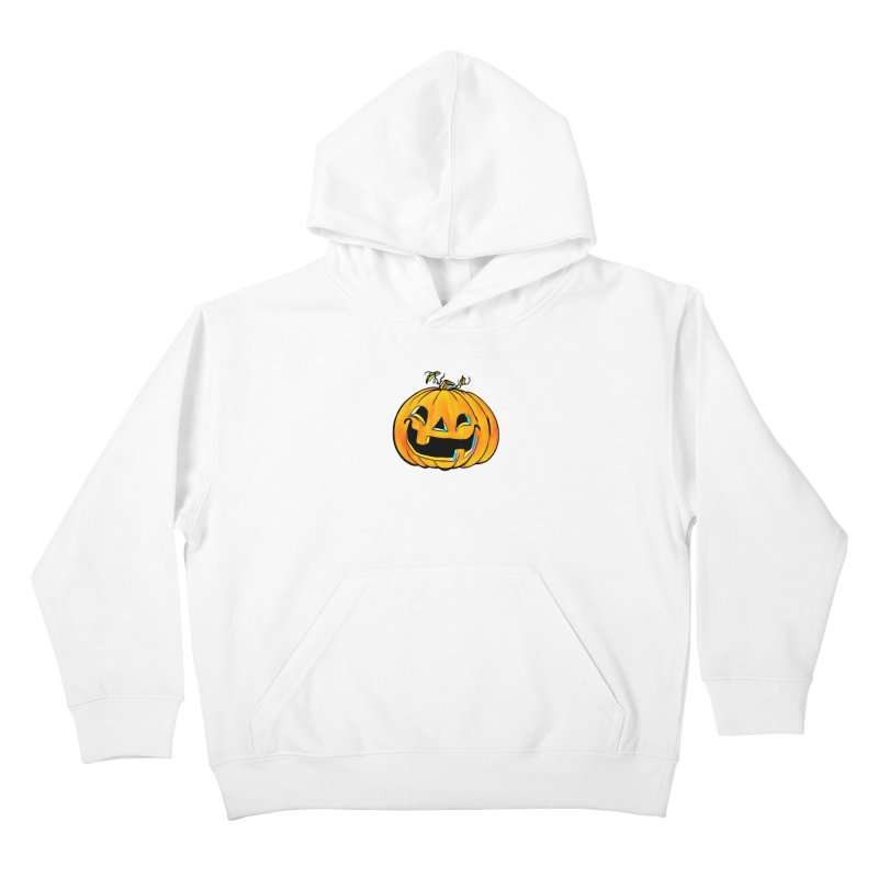 Party Pumpkin Kids Pullover Hoody by Jason Henricks' Artist Shop