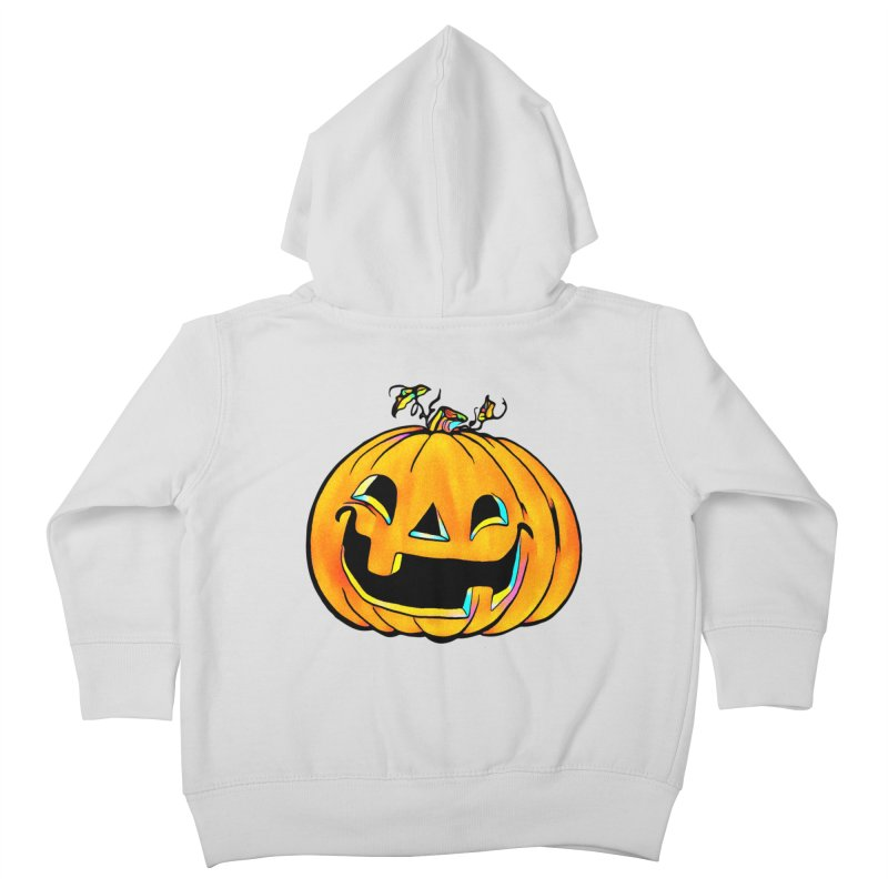Party Pumpkin  Kids Toddler Zip-Up Hoody by Jason Henricks' Artist Shop