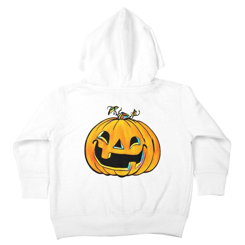 Party Pumpkin Kids Toddler Zip-Up Hoody by Jason Henricks' Artist Shop