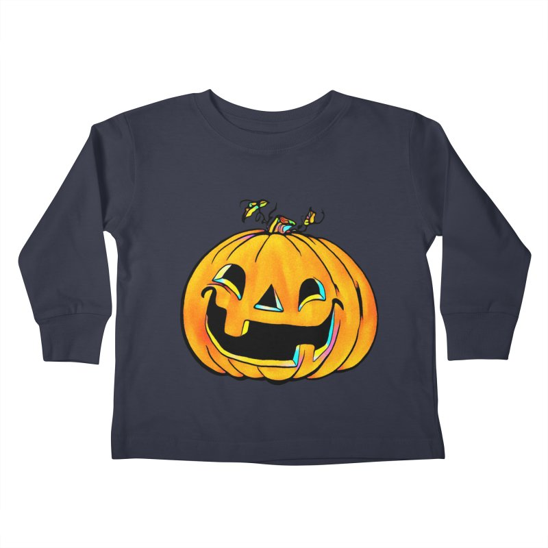 Party Pumpkin Kids Toddler Longsleeve T-Shirt by Jason Henricks' Artist Shop