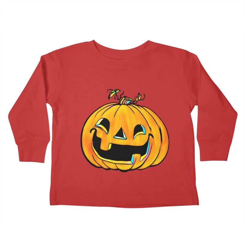 Party Pumpkin Kids Toddler Longsleeve T-Shirt by Jason Henricks' Artist Shop