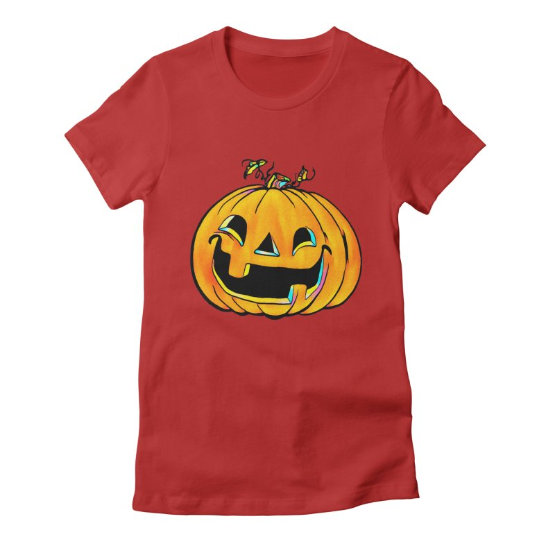 Party Pumpkin  Women's Fitted T-Shirt by Jason Henricks' Artist Shop