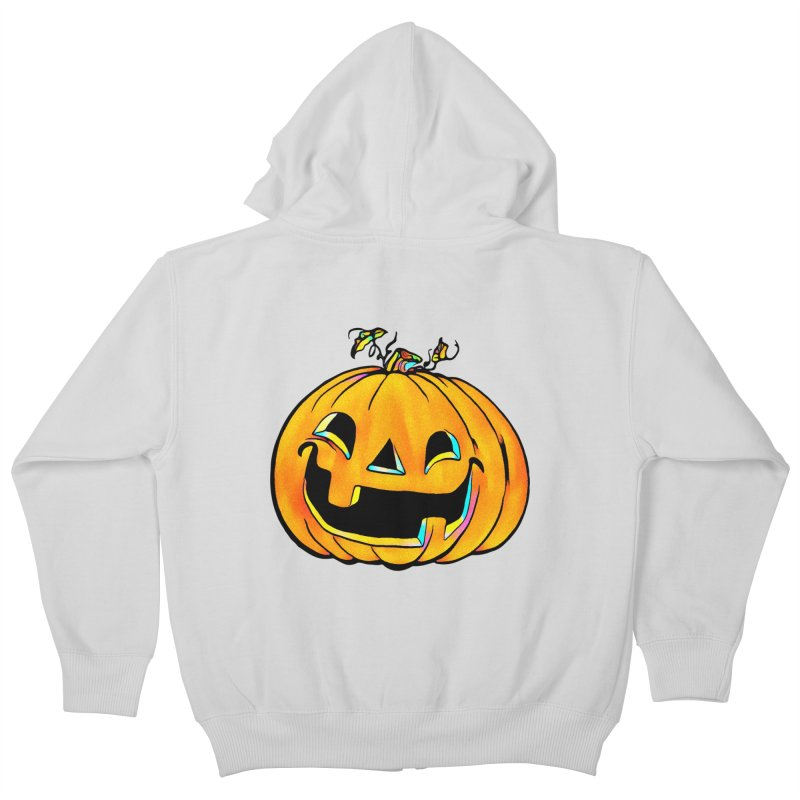 Party Pumpkin  Kids Zip-Up Hoody by Jason Henricks' Artist Shop