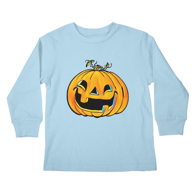Party Pumpkin Kids Longsleeve T-Shirt by Jason Henricks' Artist Shop