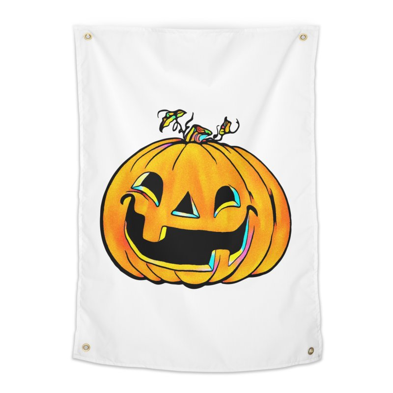 Party Pumpkin  Home Tapestry by Jason Henricks' Artist Shop
