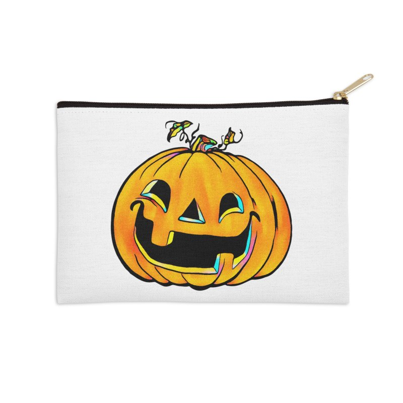 Party Pumpkin  Accessories Zip Pouch by Jason Henricks' Artist Shop