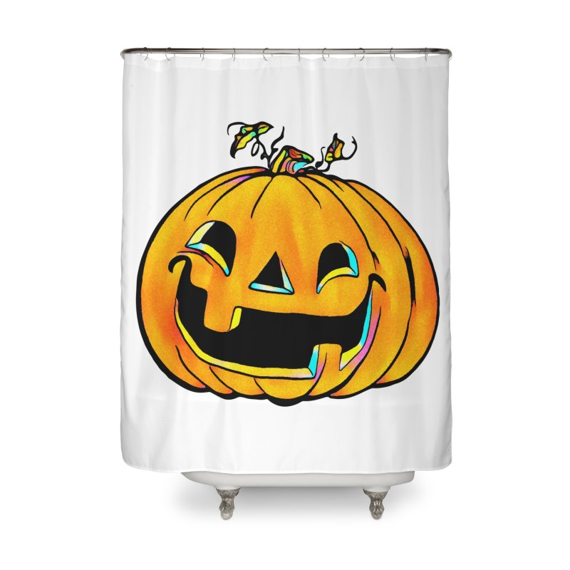 Party Pumpkin  Home Shower Curtain by Jason Henricks' Artist Shop