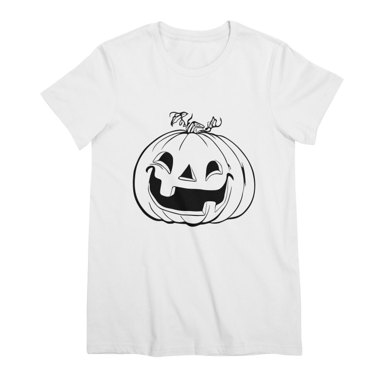 Party Pumpkin, Ghost of Women's Premium T-Shirt by Jason Henricks' Artist Shop