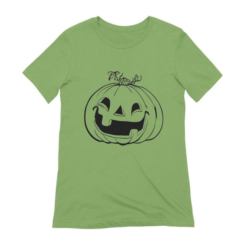 Party Pumpkin, Ghost of Women's Extra Soft T-Shirt by Jason Henricks' Artist Shop