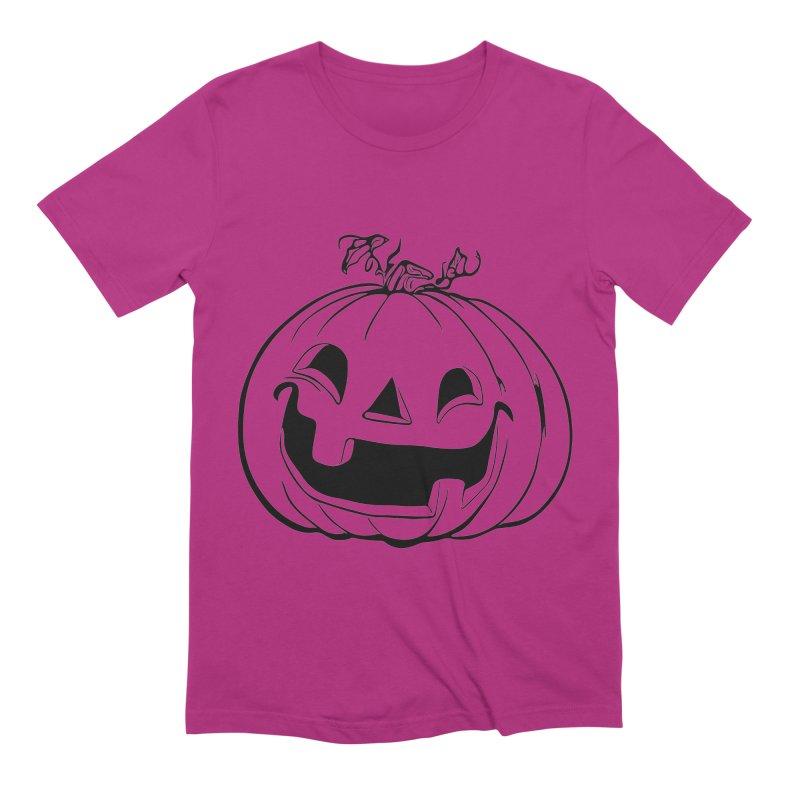 Party Pumpkin, Ghost of Men's Extra Soft T-Shirt by Jason Henricks' Artist Shop