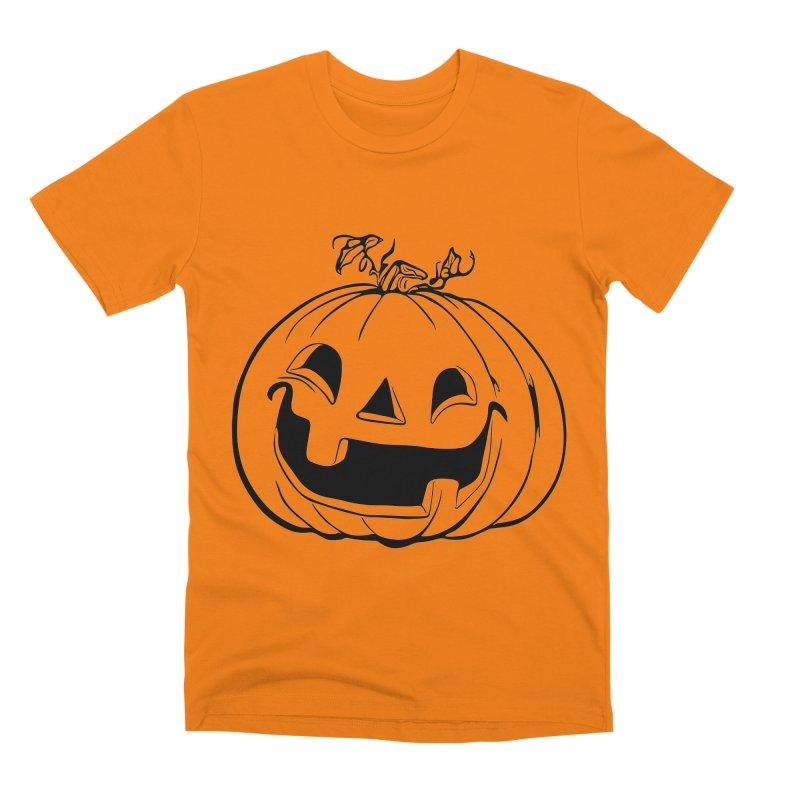 Party Pumpkin, Ghost of Men's Premium T-Shirt by Jason Henricks' Artist Shop