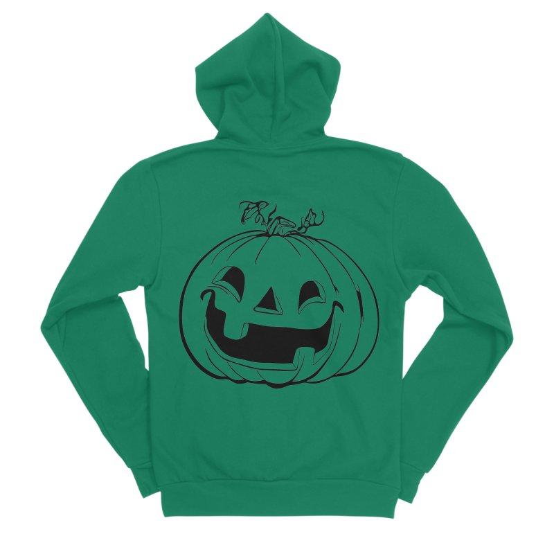 Party Pumpkin, Ghost of Women's Sponge Fleece Zip-Up Hoody by Jason Henricks' Artist Shop