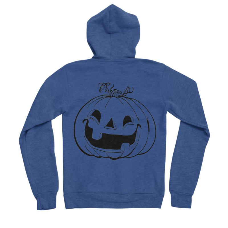 Party Pumpkin, Ghost of Men's Sponge Fleece Zip-Up Hoody by Jason Henricks' Artist Shop