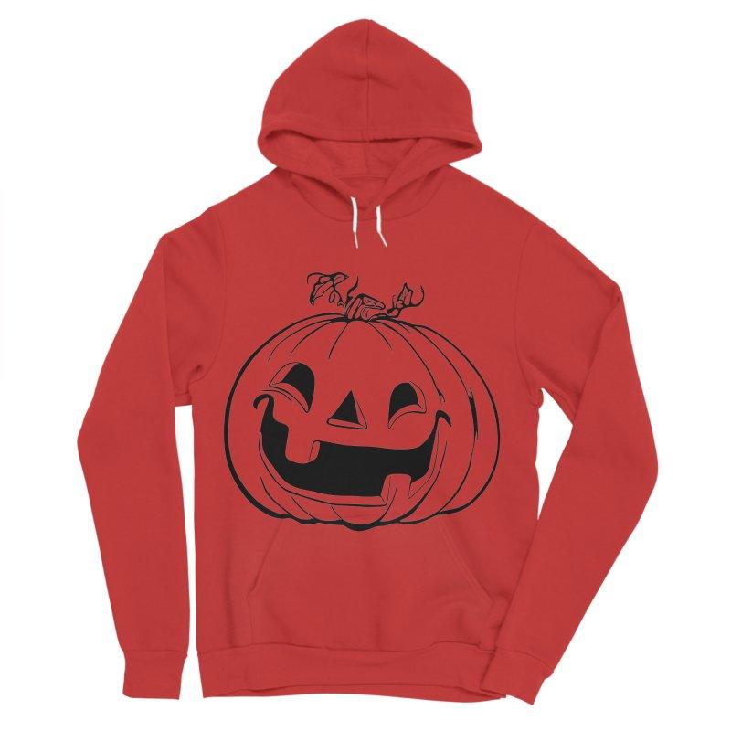 Party Pumpkin, Ghost of Men's Sponge Fleece Pullover Hoody by Jason Henricks' Artist Shop