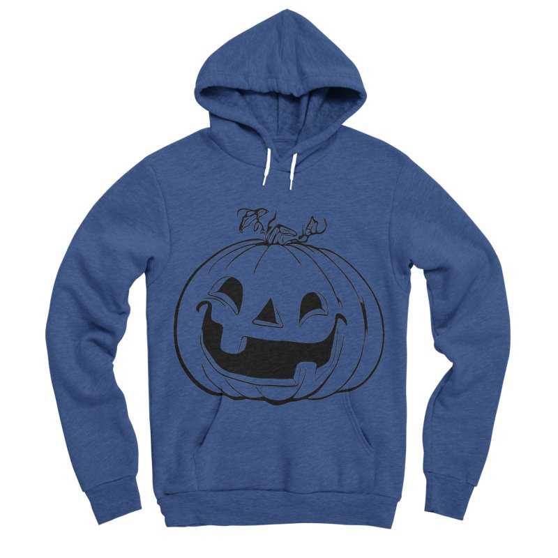 Party Pumpkin, Ghost of Men's Sponge Fleece Pullover Hoody by Jason Henricks' Artist Shop