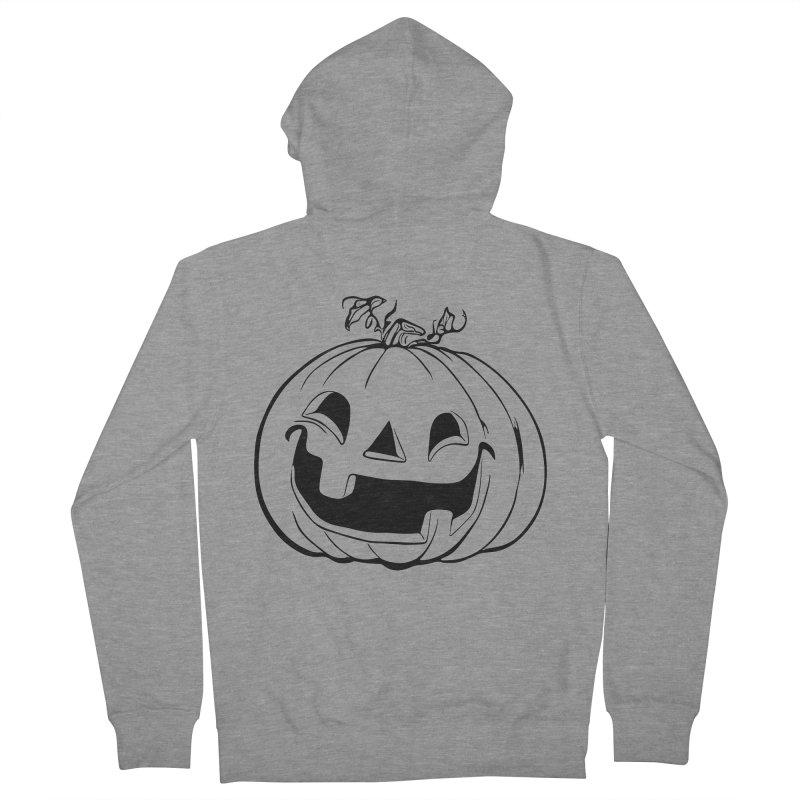 Party Pumpkin (Version 2) Men's Zip-Up Hoody by Jason Henricks' Artist Shop