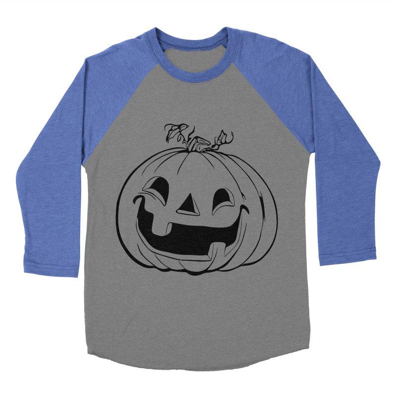 Party Pumpkin (Version 2) Women's Baseball Triblend T-Shirt by Jason Henricks' Artist Shop