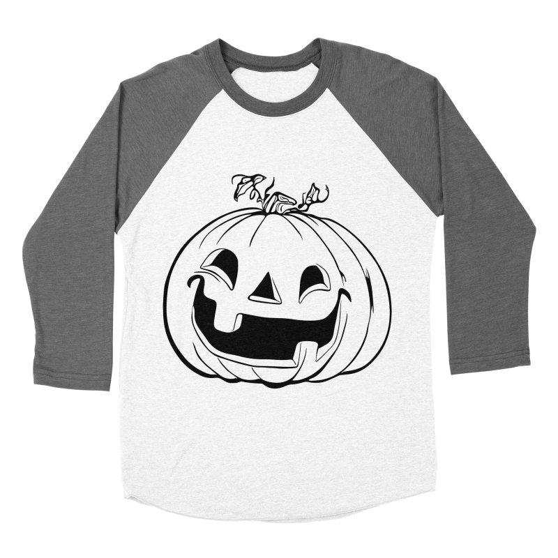 Party Pumpkin (Version 2) Men's Baseball Triblend T-Shirt by Jason Henricks' Artist Shop