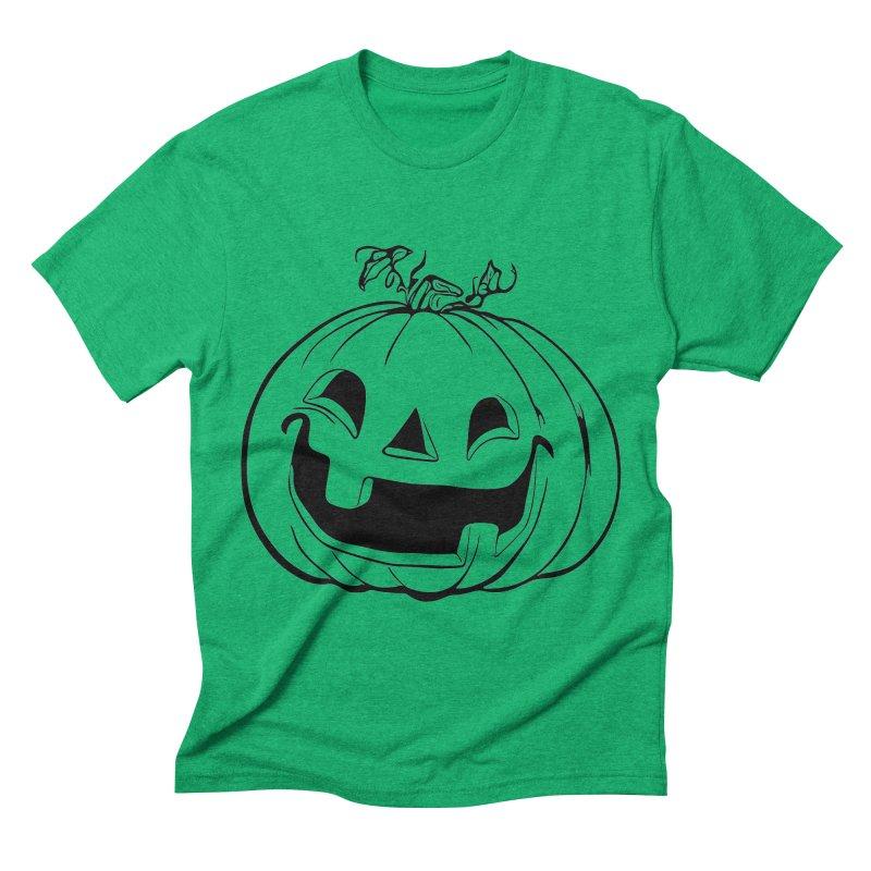 Party Pumpkin (Version 2) Men's Triblend T-shirt by Jason Henricks' Artist Shop