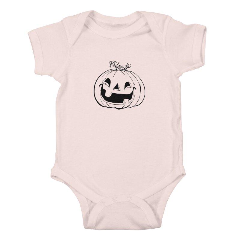 Party Pumpkin (Version 2) Kids Baby Bodysuit by Jason Henricks' Artist Shop