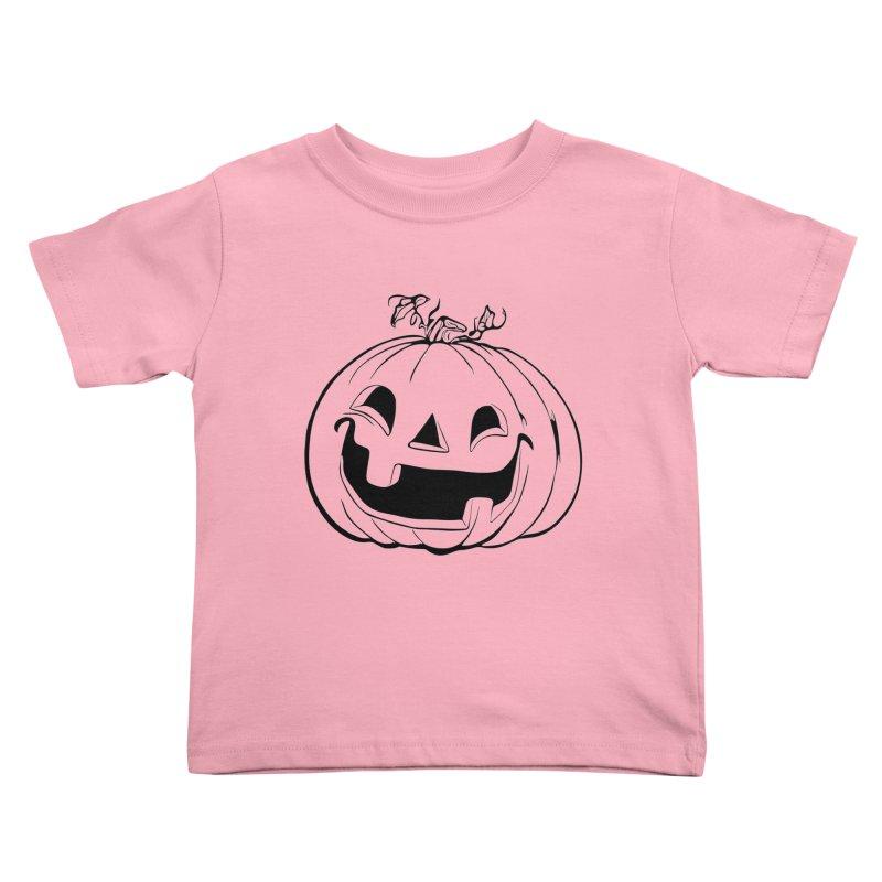 Party Pumpkin (Version 2) Kids Toddler T-Shirt by Jason Henricks' Artist Shop