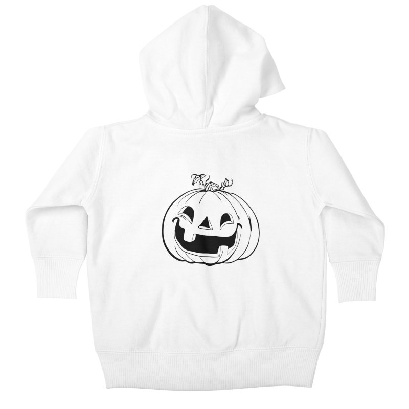 Party Pumpkin (Version 2) Kids Baby Zip-Up Hoody by Jason Henricks' Artist Shop