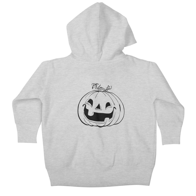 Party Pumpkin (Version 2) Kids Baby Zip-Up Hoody by Jason Henricks' Artist Shop
