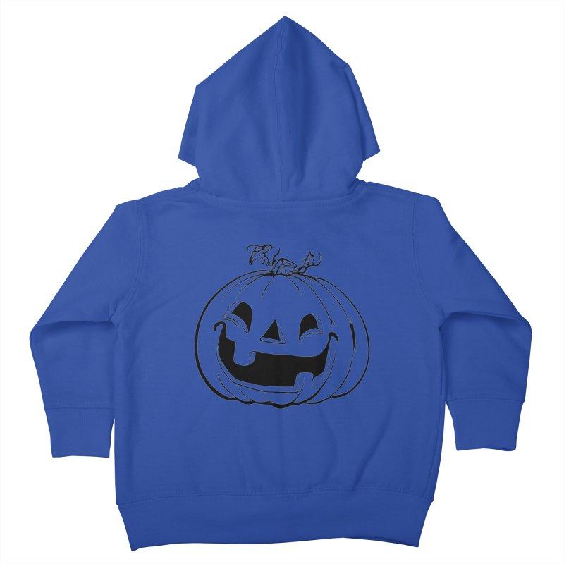 Party Pumpkin, Ghost of Kids Toddler Zip-Up Hoody by Jason Henricks' Artist Shop