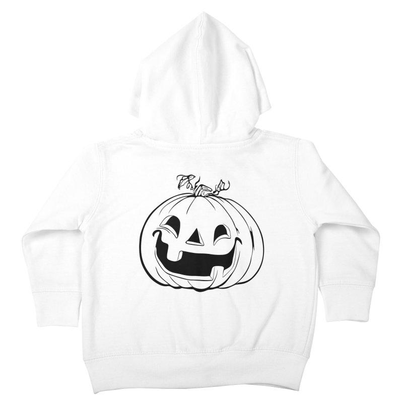 Party Pumpkin (Version 2) Kids Toddler Zip-Up Hoody by Jason Henricks' Artist Shop