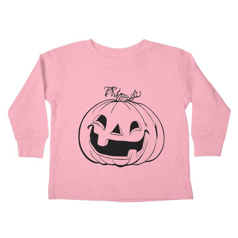 Party Pumpkin (Version 2) Kids Toddler Longsleeve T-Shirt by Jason Henricks' Artist Shop