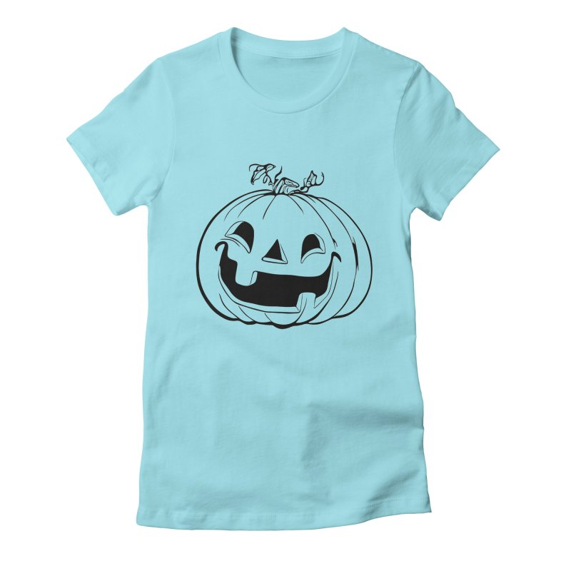Party Pumpkin (Version 2) Women's Fitted T-Shirt by Jason Henricks' Artist Shop