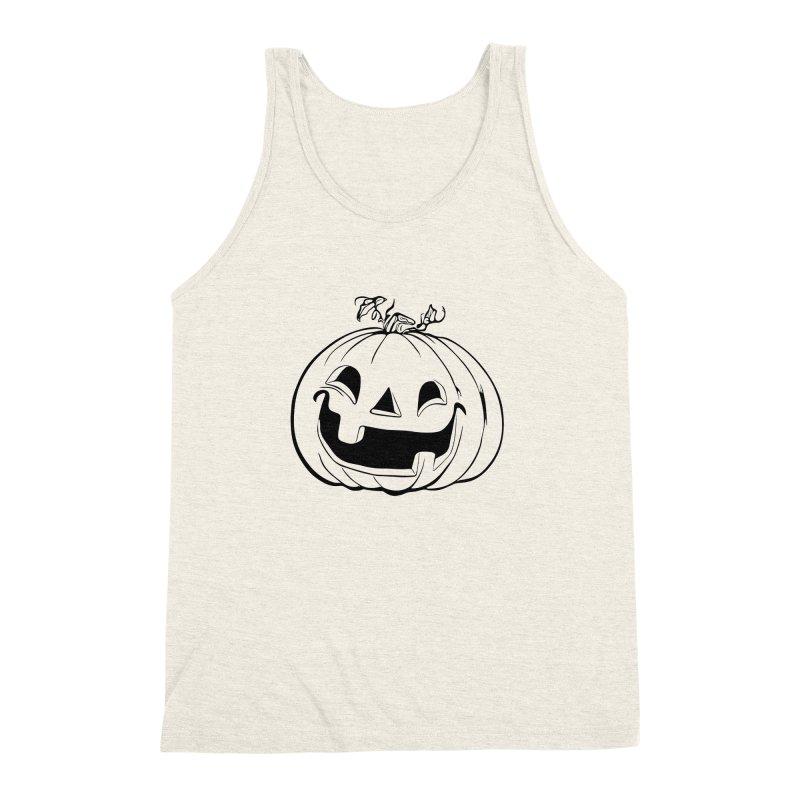 Party Pumpkin (Version 2) Men's Triblend Tank by Jason Henricks' Artist Shop
