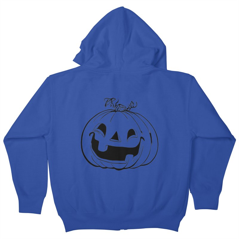 Party Pumpkin (Version 2) Kids Zip-Up Hoody by Jason Henricks' Artist Shop