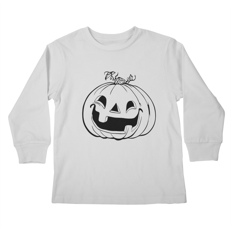 Party Pumpkin (Version 2) Kids Longsleeve T-Shirt by Jason Henricks' Artist Shop
