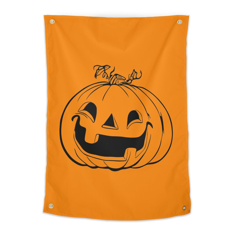 Party Pumpkin (Version 2) Home Tapestry by Jason Henricks' Artist Shop