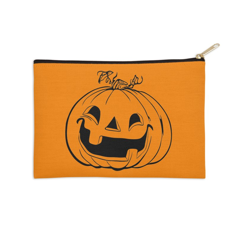 Party Pumpkin (Version 2) Accessories Zip Pouch by Jason Henricks' Artist Shop