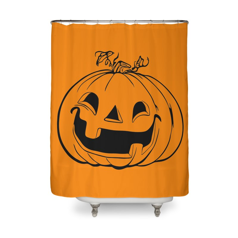 Party Pumpkin (Version 2) Home Shower Curtain by Jason Henricks' Artist Shop