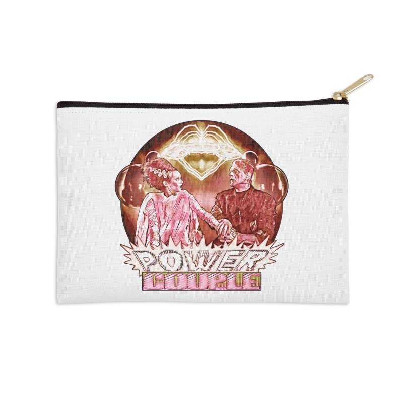 The Original Power Couple Accessories Zip Pouch by Jason Henricks' Artist Shop