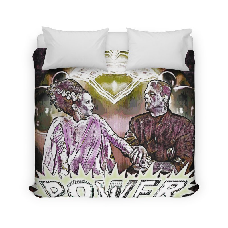 Power Couple- Version 1 Home Duvet by Jason Henricks' Artist Shop